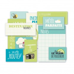 Route nationale 7 pochette vignettes vert