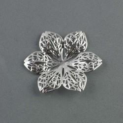 Fleur métal argenté