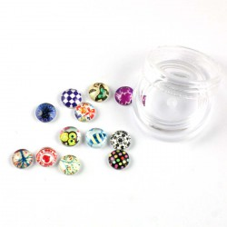 Lot de 12 mini cabochons