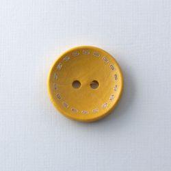 Bouton en bois fausses coutures jaune