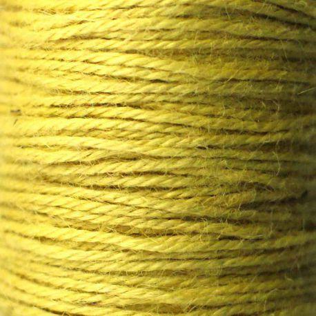 Ficelle de jute jaune bobine 70m