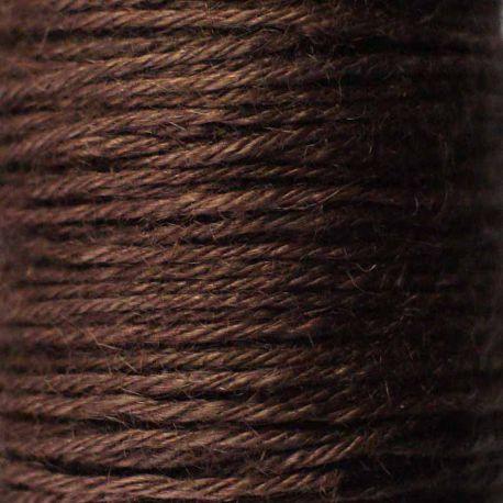 Ficelle de jute marron chocolat bobine 70m