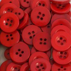 Boutons rouge foncé