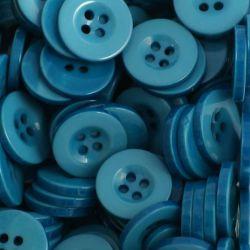 Boutons turquoise foncé
