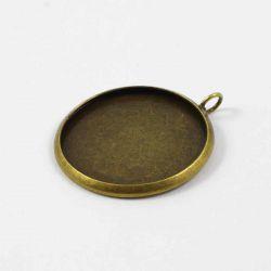 Pendentif rond couleur bronze