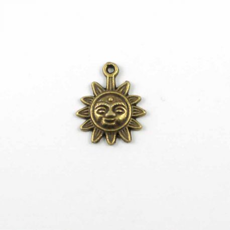 Breloque Soleil bronze