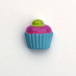 Cupcake gourmand bleu/fushia