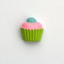 Cupcake gourmand vert/rose
