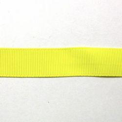 Ruban uni  jaune ananas 19 mm
