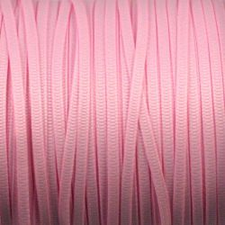 Ruban uni rose perle 3 mm