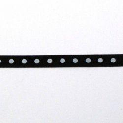 Ruban à pois 6mm noir/blanc