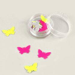 Pastilles papillons fluo