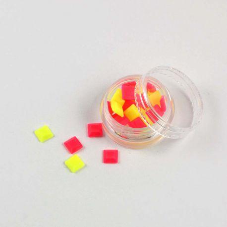 Pastilles carrés diamants fluo
