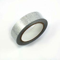 Masking tape pailleté argent