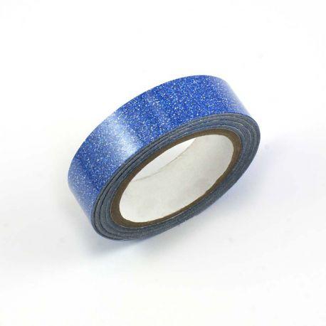 Masking tape pailleté bleu