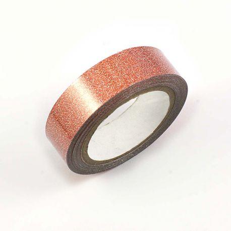 Masking tape pailleté cuivre