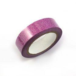 Masking tape paillete fushia