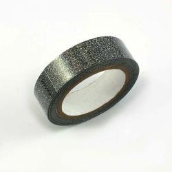 Masking tape pailleté noir