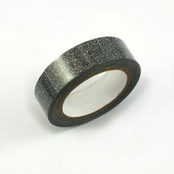 Masking tape paillete noir