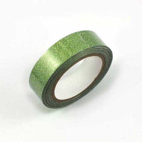 Masking tape pailleté vert