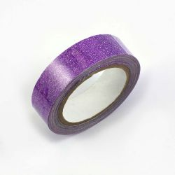 Masking tape pailleté violet