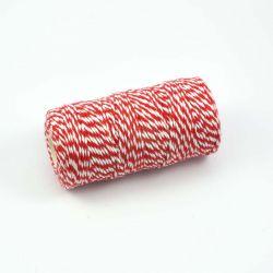 Twine rouge et blanc 100m