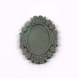 Cadre ovale gris