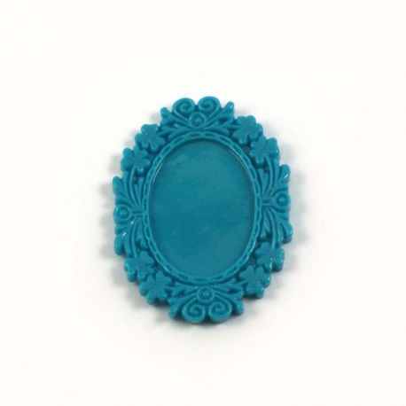 Cadre ovale turquoise