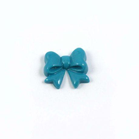 Noeud en resine turquoise