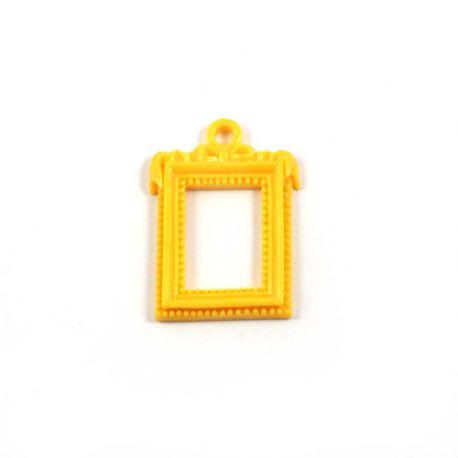 Cadre rectangulaire baroque jaune