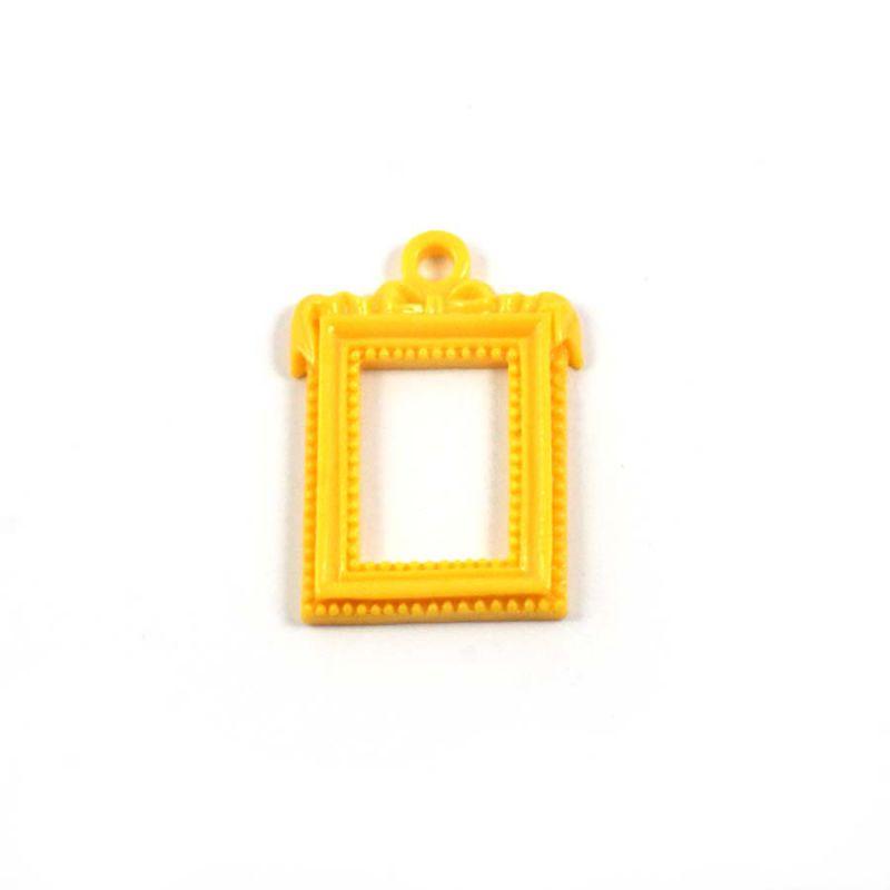 cadre rectangulaire baroque jaune ph m ria scrapbooking. Black Bedroom Furniture Sets. Home Design Ideas