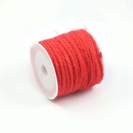 Ficelle de jute rouge clair (10M)