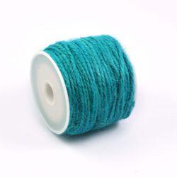 Ficelle de jute turquoise fonce (10M)