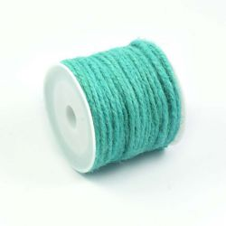 Ficelle de jute turquoise clair (10M)