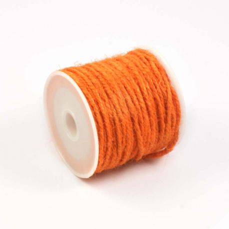 Ficelle de jute orange (10M)