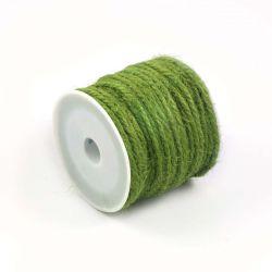 Ficelle de jute vert mousse (10M)