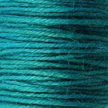 Ficelle de jute turquoise fonce (50M)