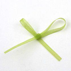 Ruban organza vert  3 mm
