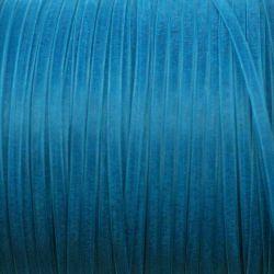 Ruban organza bleu pétrole 3 mm