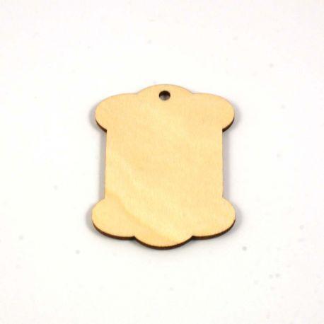 Tag etiquette en bois 60X45 mm