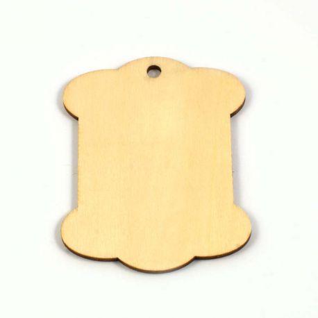 Tag etiquette en bois 78X60 mm