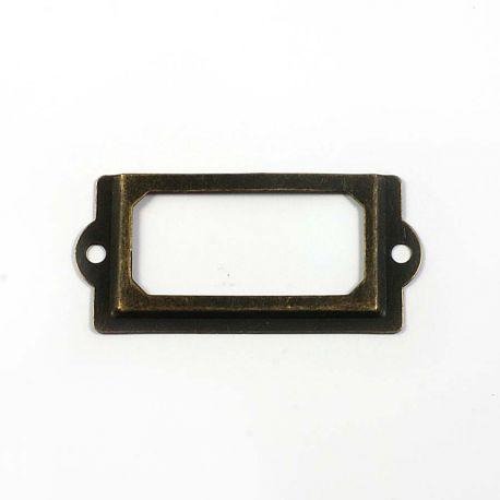 Porte étiquette métal vintage