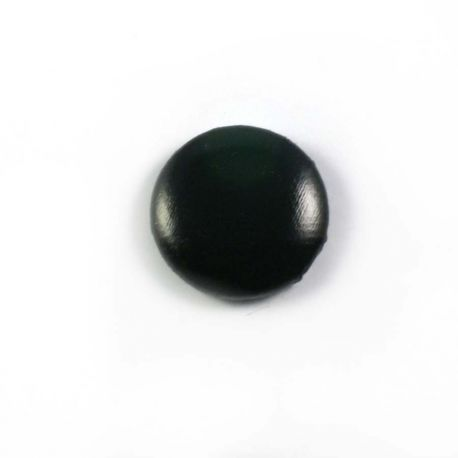 Big bulle aspect cuir noir 25mm