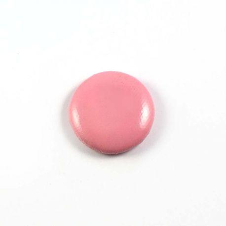 Big bulle aspect cuir rose clair 25mm