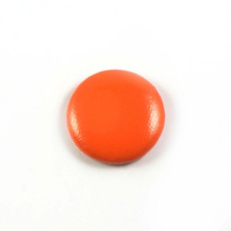 Big bulle aspect cuir orange 25mm
