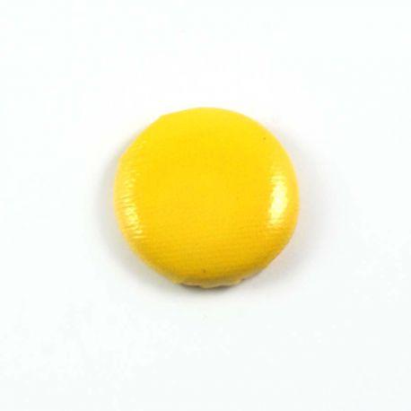 Big bulle aspect cuir jaune 25mm