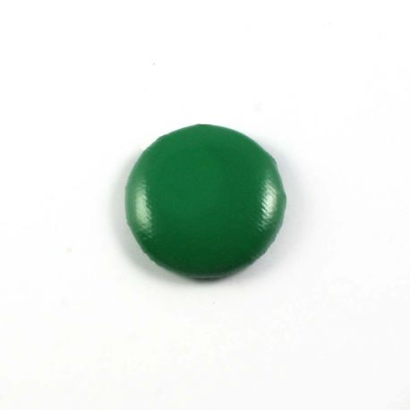 Big bulle aspect cuir vert fonce 25mm