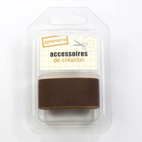 Toile adhesive chocolat
