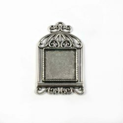 Support cabochon argent 20X20