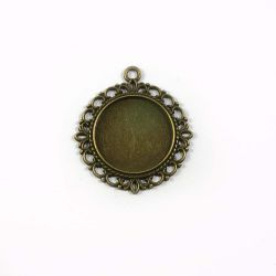 Support cabochon bronze 25mm